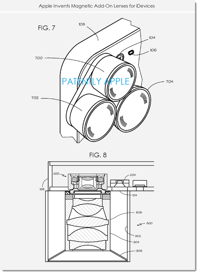 4. Apple granted patent for magnetic camera lenses for iDevices