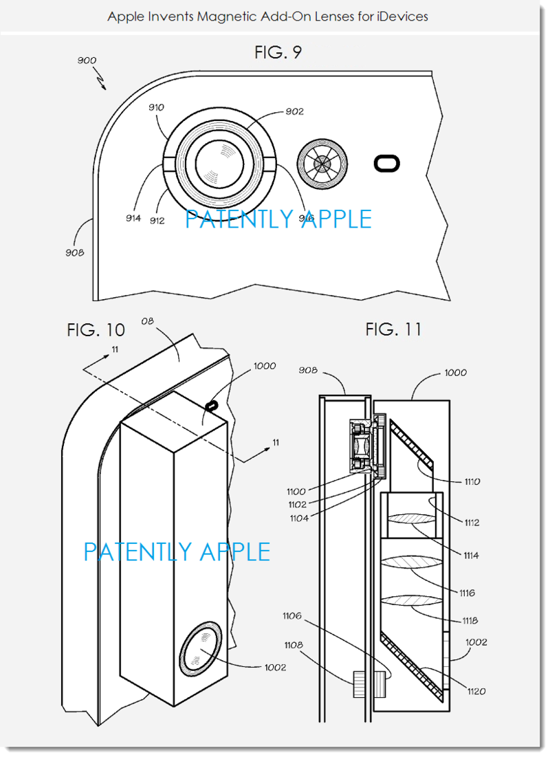 5. Apple granted patent for magnetic camera lenses for iDevices