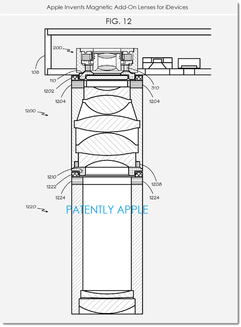 6. Apple granted patent for magnetic camera lenses for iDevices