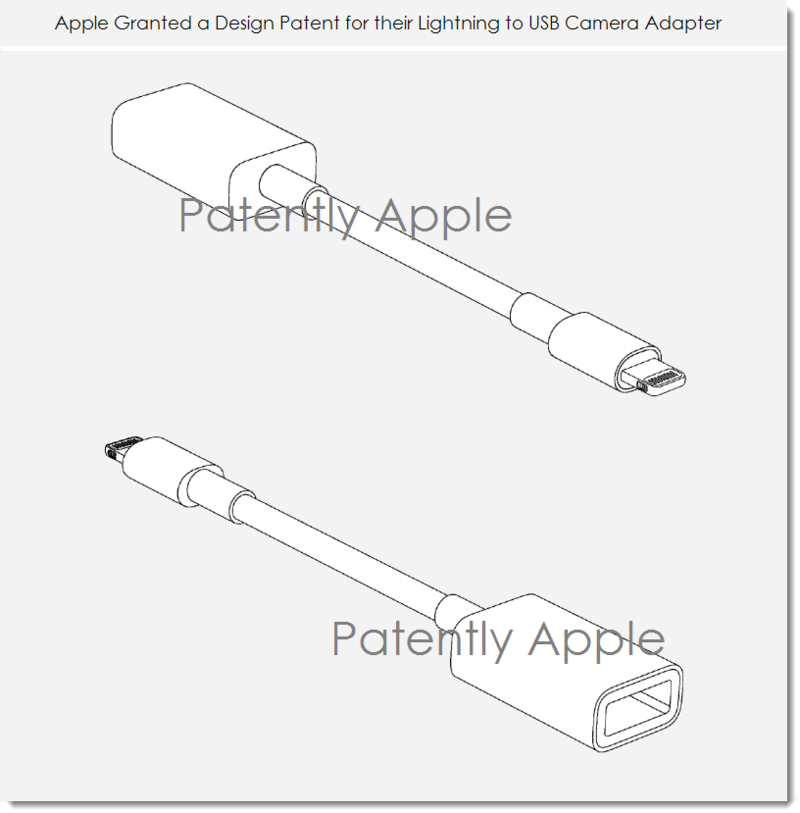 4. Apple Granted Design patent - Lightning to USB Camera Adapter