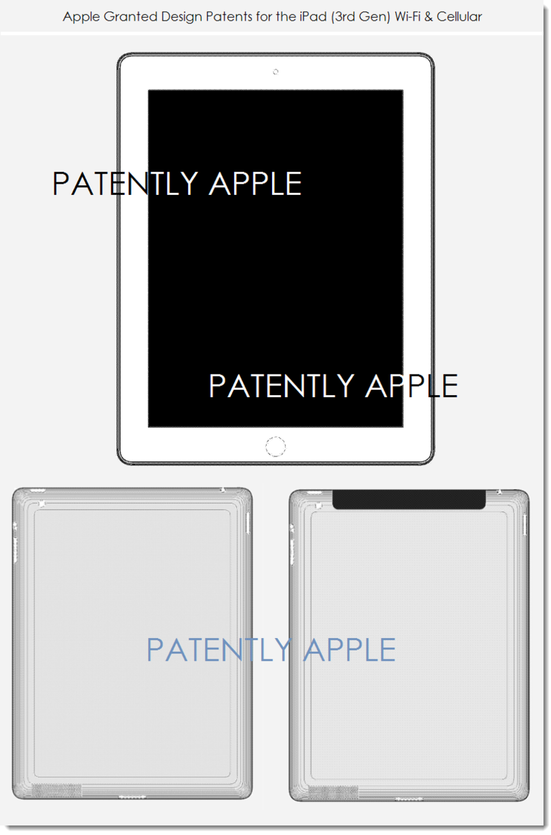 5. Apple Granted Design Patent - iPad 3rd gen