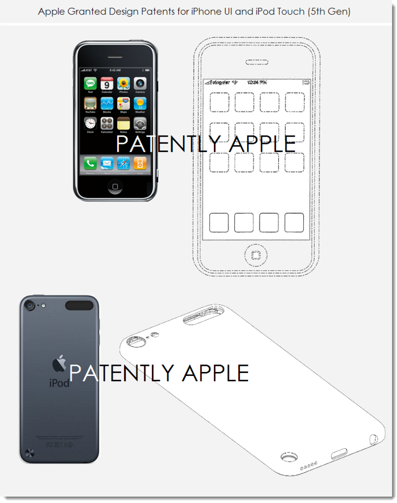 6. Apple wins design patents for iPhone UI (original 2007), iPod touch 5th gen