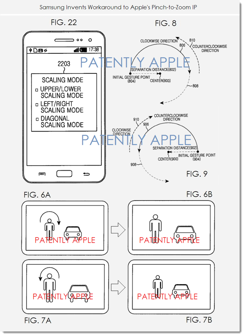 3A SAMSUNG PATENT WORKAROUND TO APPLE'S PINCH TO ZOOM