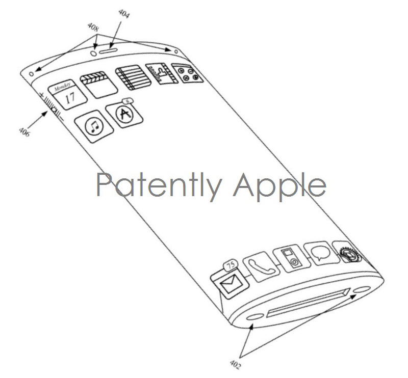 2. iPhone with warparound display