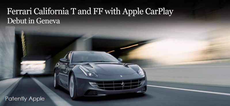 1. Ferrari Apple CarPlay