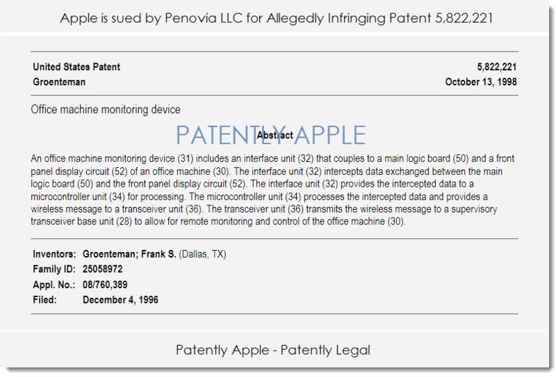 2. Apple sued by Penovia