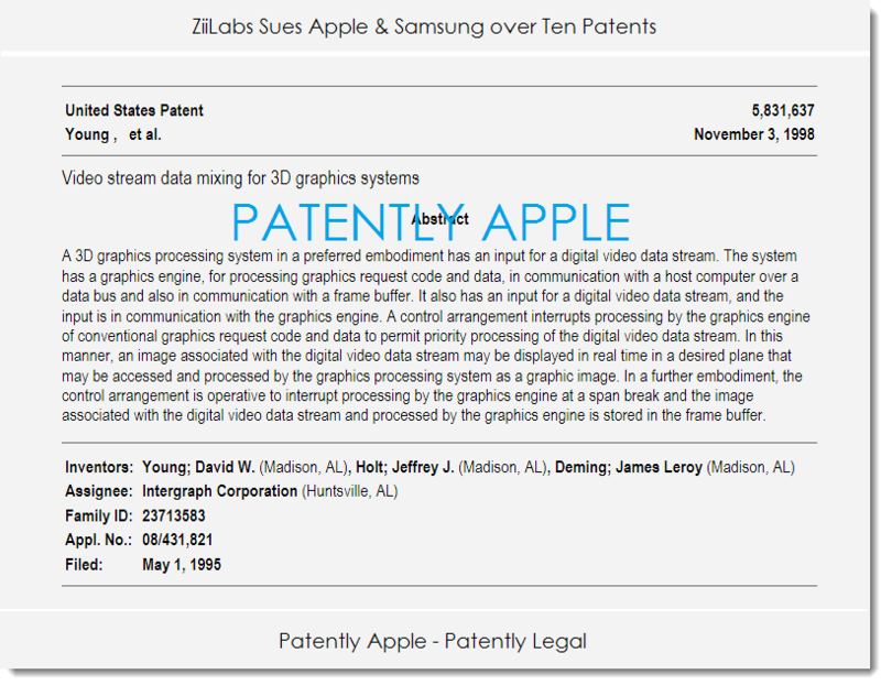 2. ZiiLabs sues apple, samsung over 10 patents