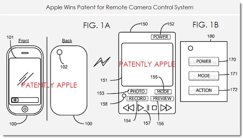 apple granted 38 patents today covering the itunes video rental system  a remote camera
