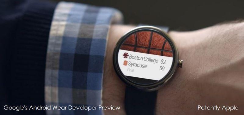 1. Google Wear - watch