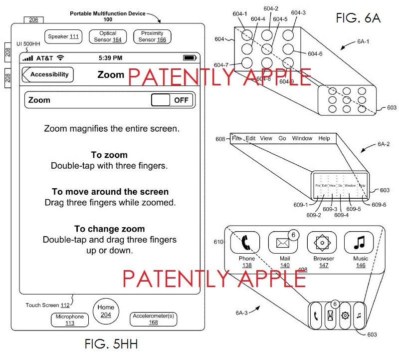 3A Apple wins patent for Accessibility UI