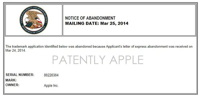 3. Notice of Abandoment dated Mar 25, 2014 to USPTO