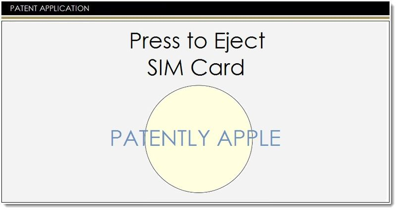 1. COVER - NEW SIM CARD TRAY EJECTION SYSTEM - APPLE INVENTION APR 2014