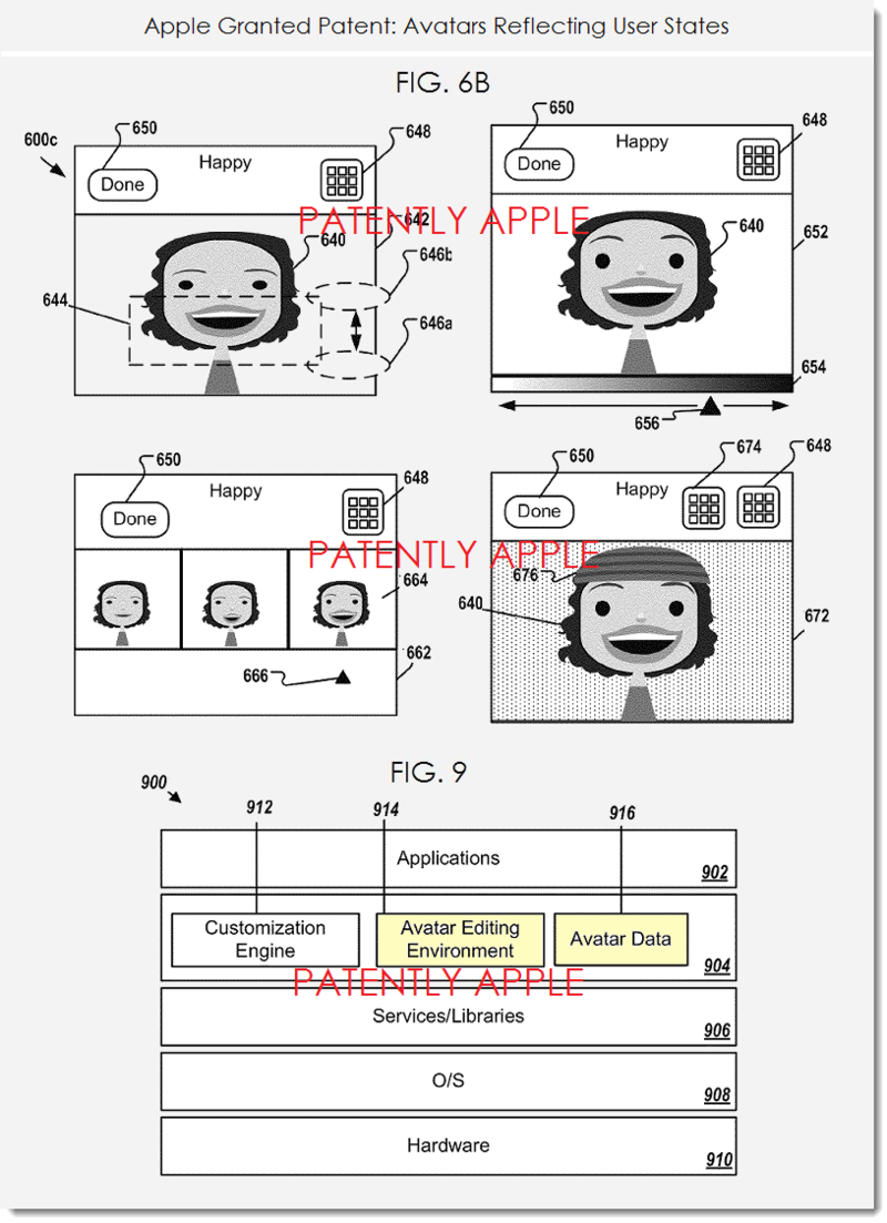 4. Apple avatar patent reflecting user states