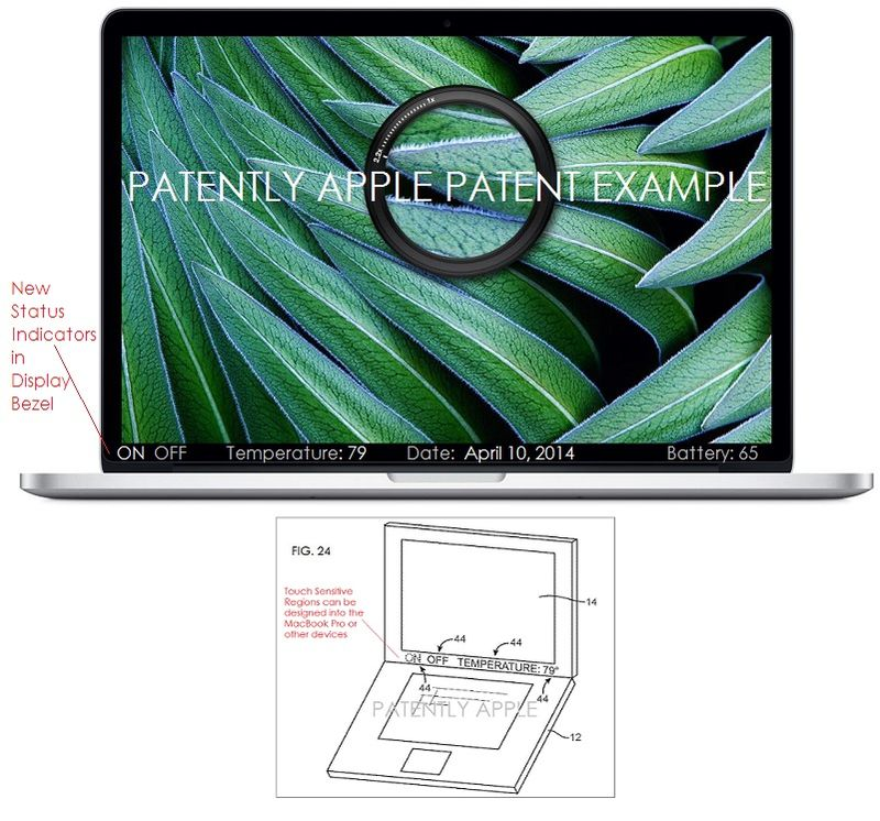 6AF - Real MacBook Pro with inserted text to Mimic Apple Patent illustration