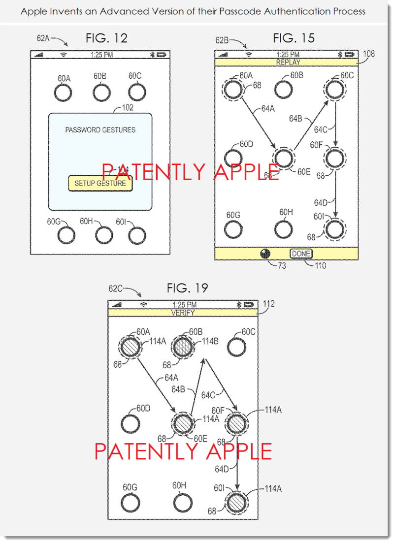 4. Apple patent figs 12, 15 & 19