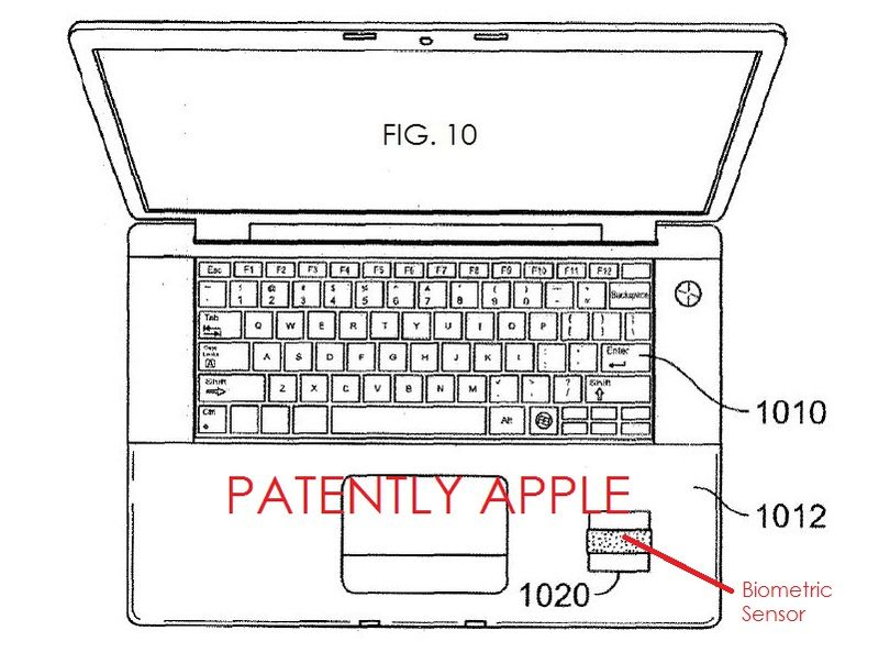 3. fig. 10 biometrics for a MacBook Pro