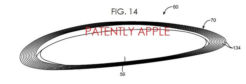 3. Apple fig. 14, curved camera lens for possible iWatch-like device