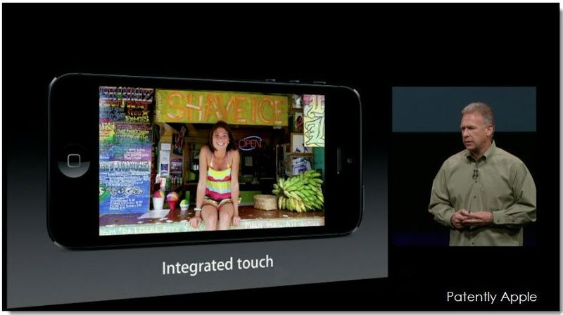 2. iPhone 5 with new Display with built-in Integrated Touch