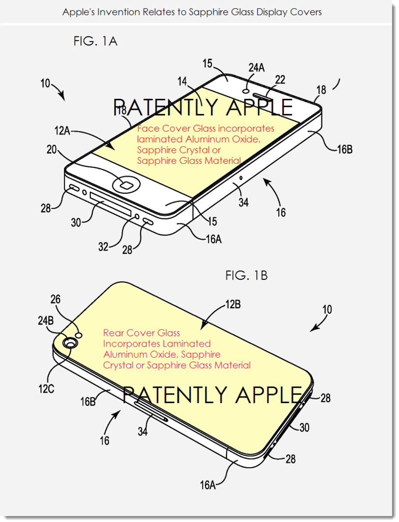2AF - Apple patent for iDevices with Sapphire front and or back cover glass