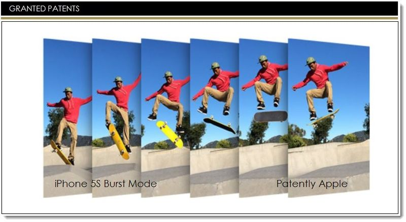 1AF -GRANTED PATENTS -  burst mode iPhone 5s