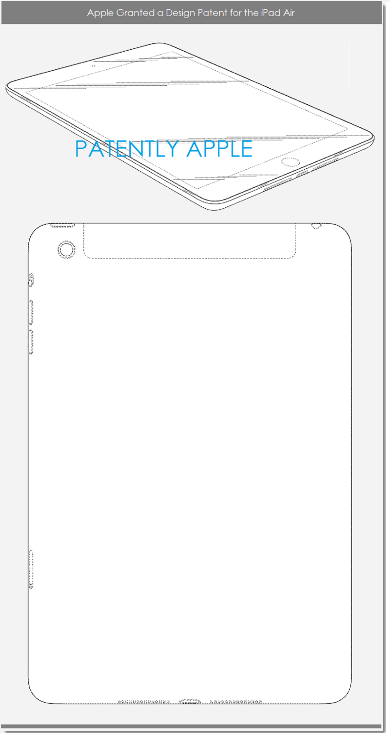 5AF - APPLE IPAD AIR DESIGN PATENT
