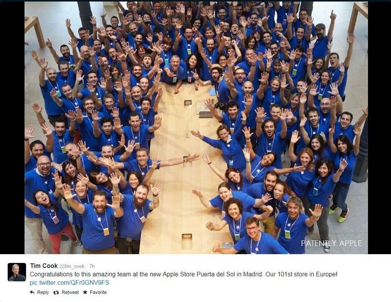 2. Apple CEO Tweets his new team in Madrid Spain
