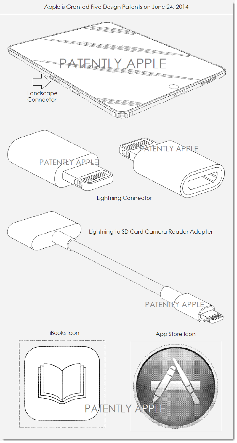 5AF - APPLE GRANTED FIVE DESIGN PATENTS JUNE 24 2014