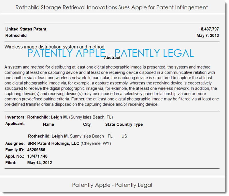 2AF - Rothchild Storage sues Apple for patent infringement