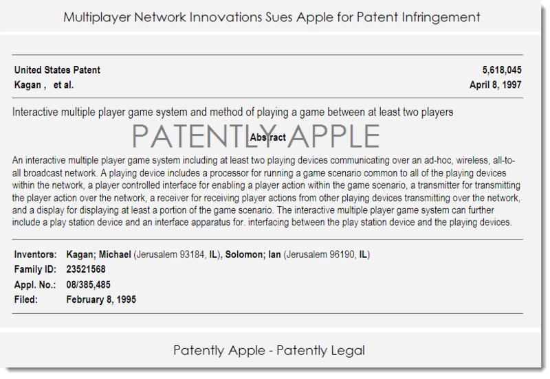 2AF APPLE SUED FOR PATENT INFRINGEMENT WITH THIS PATENT