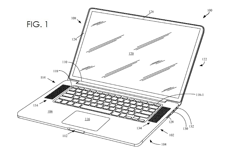 2. MacBook Pro granted patent fig. 1 - Dec 31, 2013