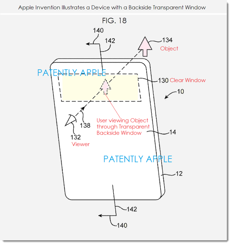 3. Apple patent describes device with backside transparent window
