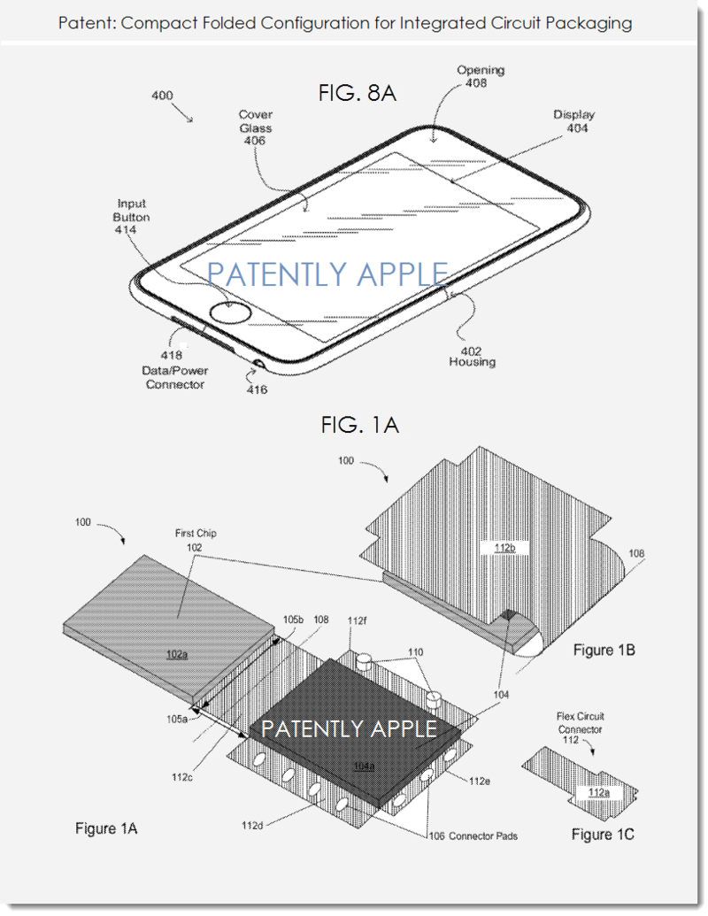 4. Apple patent - compact folded configuration for Integrated circuit packaging