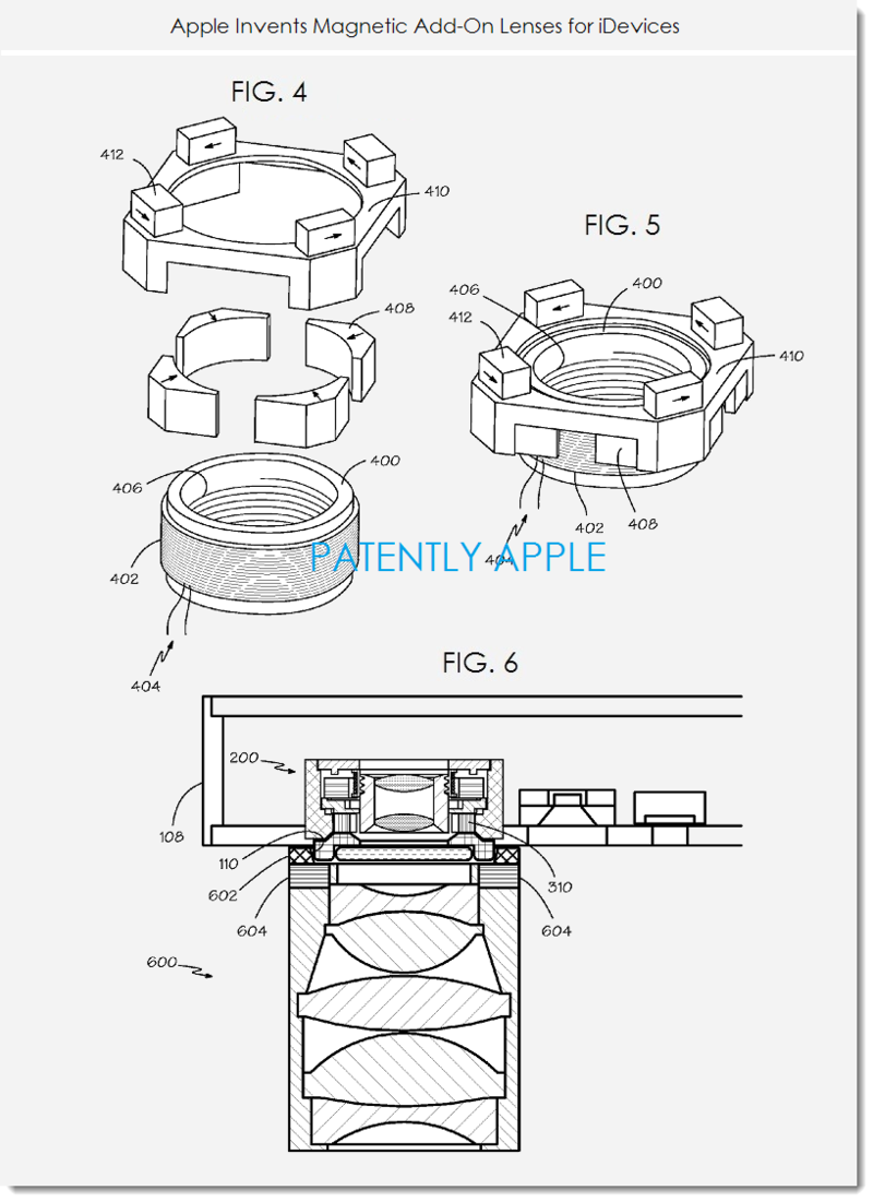 3. Apple granted patent for magnetic camera lenses for iDevices
