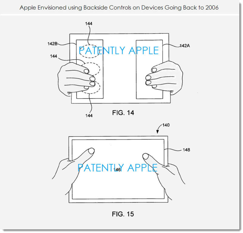 3. Backside controls as an Apple concept go all the way back to 2006