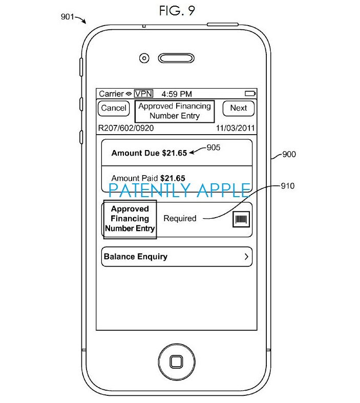 4. Apple financial System - iPhone Interface