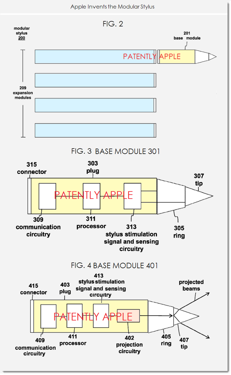 2AA. Apple invents the Modular Stylus - figs. 2,3,4