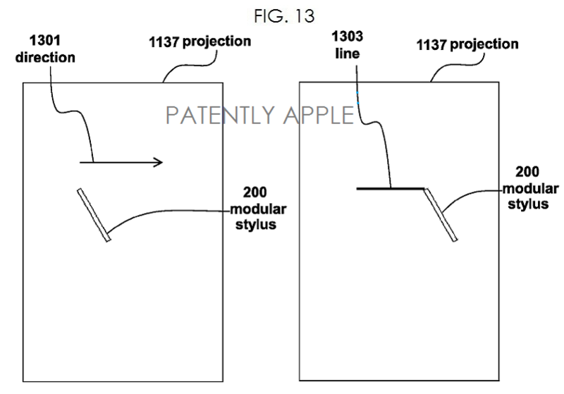 5. Apple modular stylus fig 13 - projection