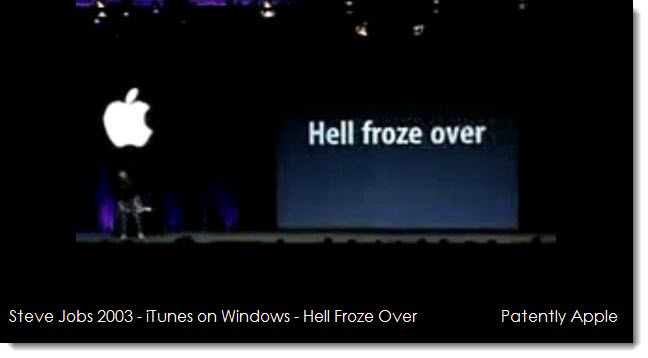 2A. Steve Jobs 2003 - iTunes on Windows - Hell Froze Over