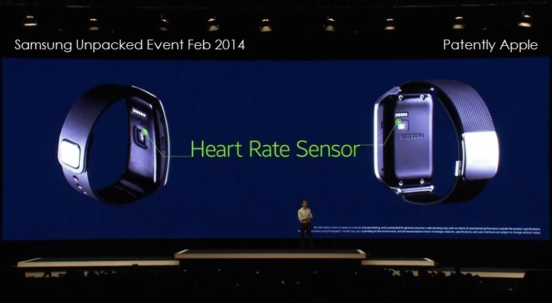 5. Heart Rate Sensor built into Gear 2 and Gear Fit