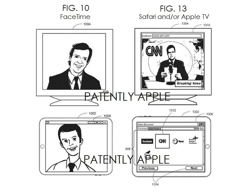7. FIG. 10 FACETIME - FIG. 13 - SAFARI AND OR APPLE TV