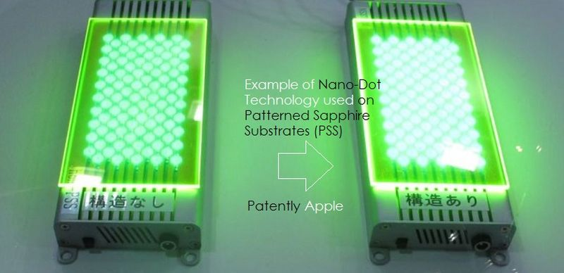 4a nano-dot on Patterned sapphire substrates PSS