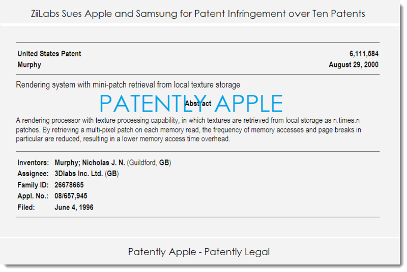 3. ZiiLabs sues Apple & Samsung over ten patents
