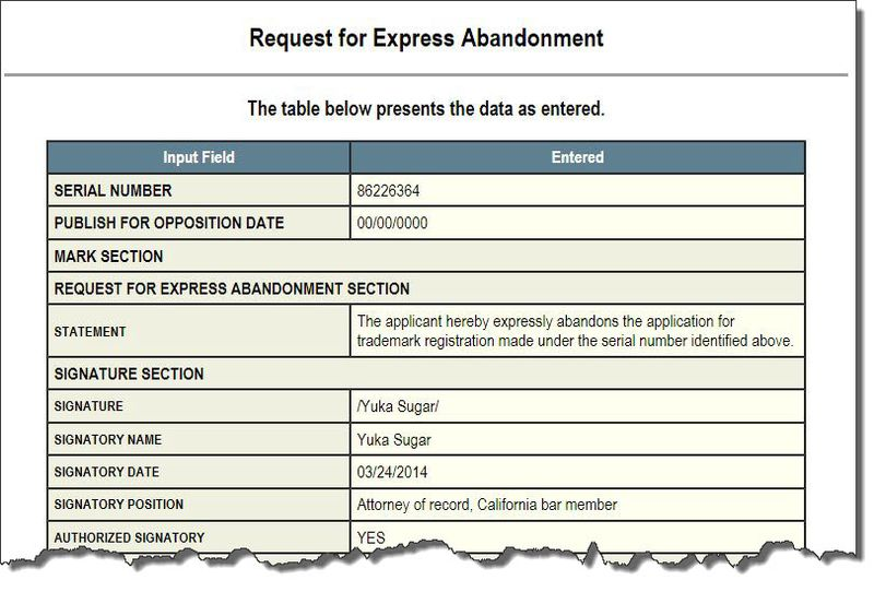2a. Express Abandonment