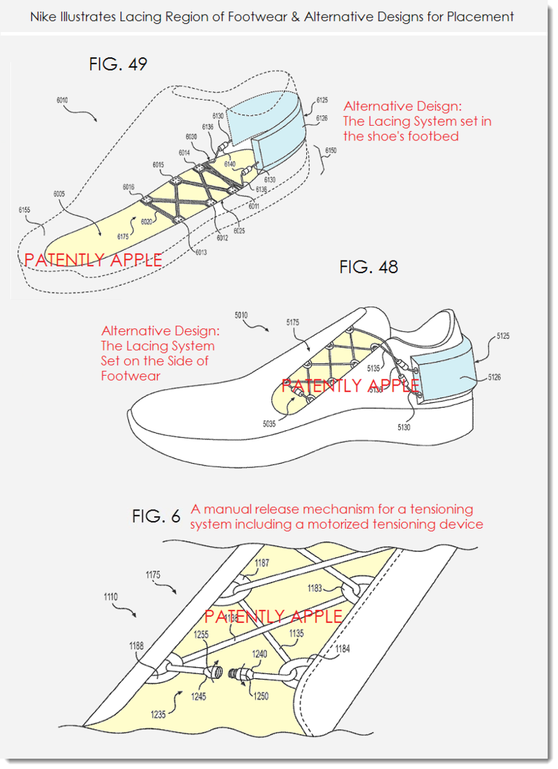 9. Nike motoriized footware adjustment system alternative designs +
