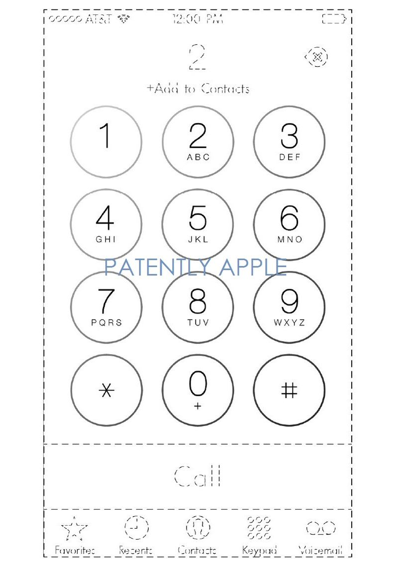 4A. Apple wins design patent for iOS iPhone Keypad in Hong Kong China -  fig. 1