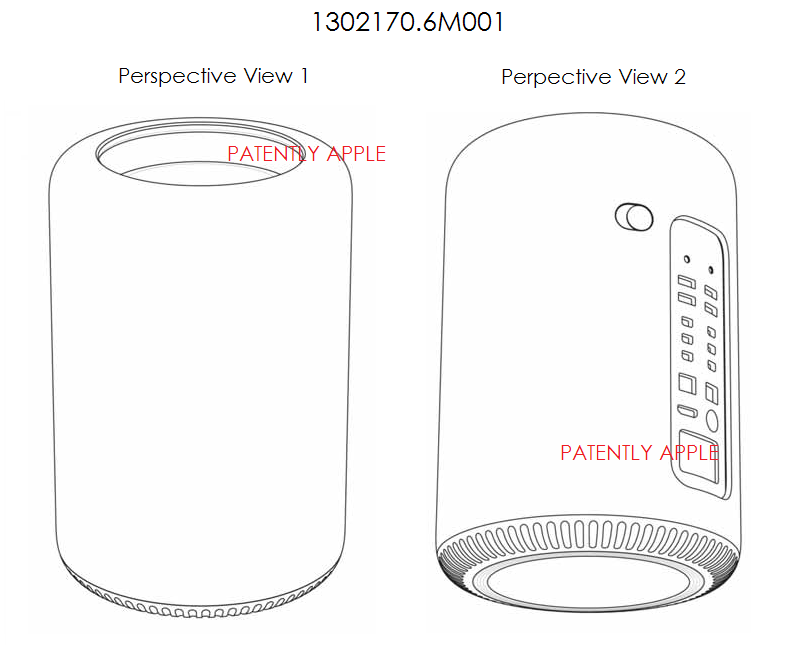 2AF - Apple Mac Pro Tower wins Design Patent in China