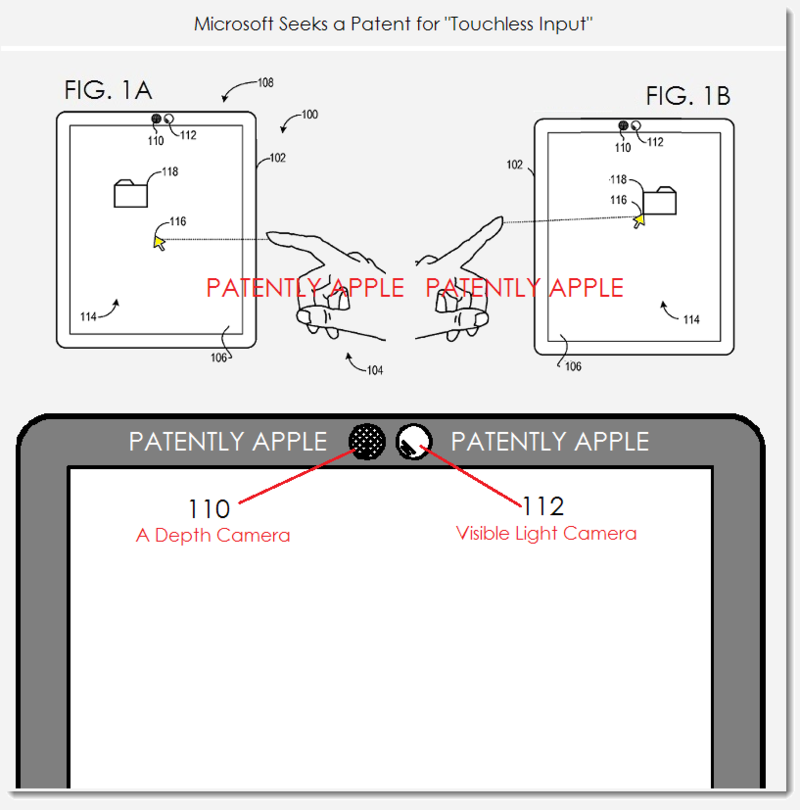 3. PA Version - Msft patent application for Touchless Input - for mobile device & other displays like TV