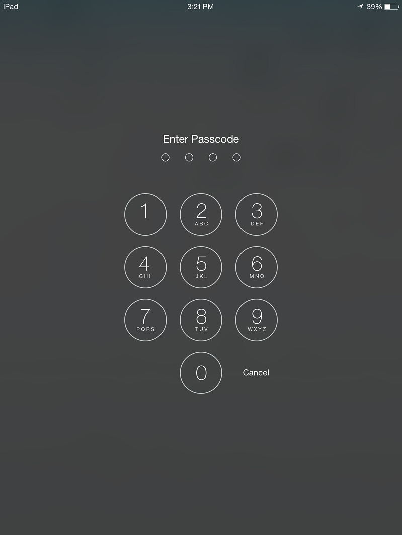 8. Apple Passcode page