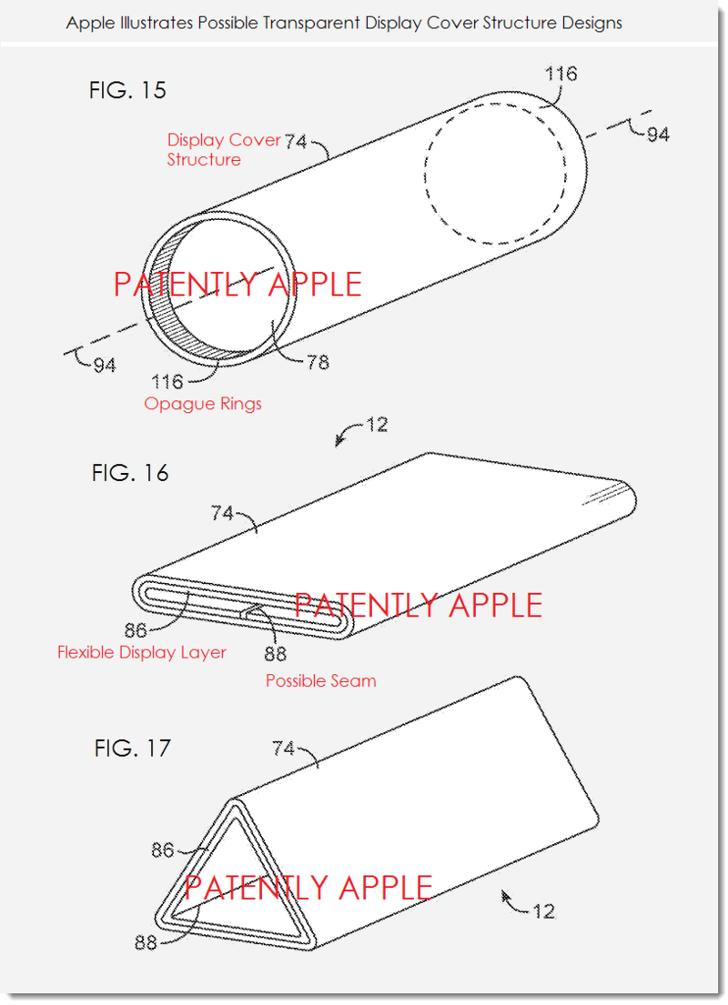 3. Apple Patent - Possible transparent display cover structure designs that are hollow