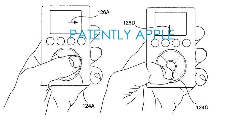 2. Apple Clickwheel patent